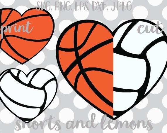 Basketball And Volleyball Monogram Svg Basketball Svg