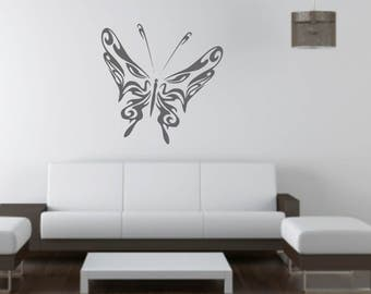 Tribal Butterfly wall vinyl or sticker