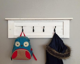 Fennec Series- Wall Mounted Coat Racks, Coat Hooks, Rustic Home Decor, Coat Rack, Wooden Shelves, Wall Hooks, Wood Decor, Entryway Furniture