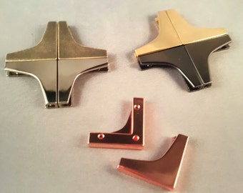 Set of 4 Decorative Flap Ends. These are sold as a set of 4 ends of the same finish.