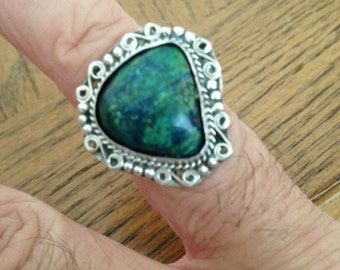 Sterling Silver Azurite Malachite Ring