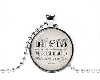Harry Quote Necklace Sirius Black Quote Pendant Fandom Jewelry Fangirl Fanboy Cosplay