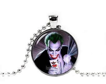 Joker Pendant Joker Necklace with a ball chain Fandom Jewelry Cosplay Fangirl Fanboy