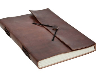Gusti leather 'Ela' notebook diary journal B5