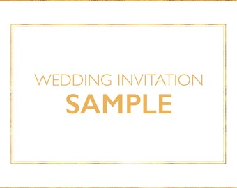 Wedding Invitation SAMPLE (Free Delivery)