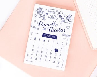 Quirky Biro Save the Date/Wedding Announcement Cards