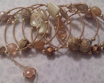 Gold Long Wrap Bracelet