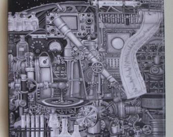 Telescopolis B&W  Canvas print