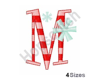 Peppermint And Snowflakes - Machine Embroidery Design