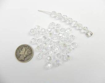 Swarovski 5000 Moonlight 6mm Faceted Round Crystal Beads (6 pieces)