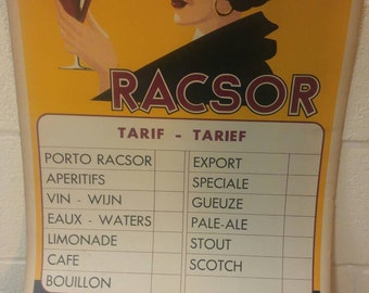 Vintage Porto Racsor Tarif Poster