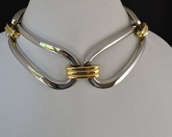 vintage Alexis Kirk choker two tone modernist bold statement runway designer mogul/Offered by poshparagons for you or to give as a gift! !