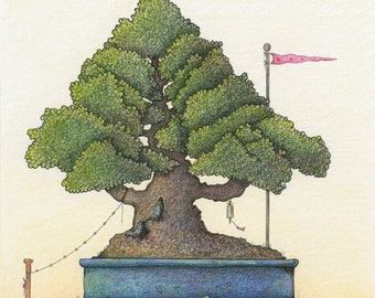 The Climbing Tree - limited edition Giclee print