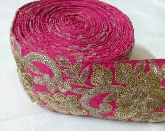 Light Pink Sequence Lace 10 Yards