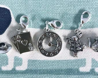 Alice in Wonderland themed Stitch/Progress Markers set of 5