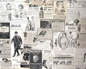 Vintage Antique Illustrated Magazine Ads Victorian Edwardian Assortment Actual Clippings for Collage (36 Pieces)