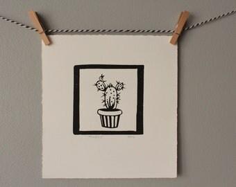 plant print, home decor, cacti, cactus print, plant art, plant decor, monochrome art, black and white decor,