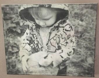 Custom photo canvas, photo transfer, photo canvas, distressed photo canvas