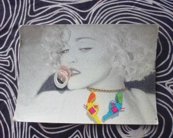 Madonna vtg postcard 80's vgc