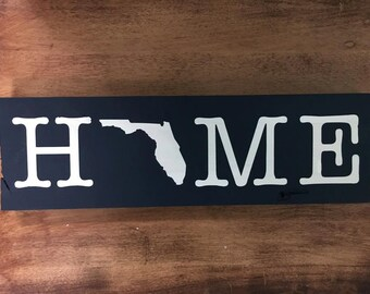 HOME Florida Sign Navy Blue