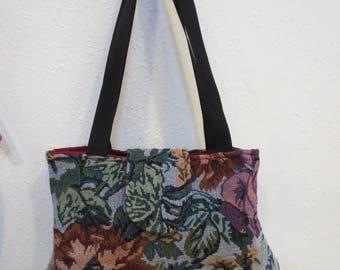 Tapestry print handbag