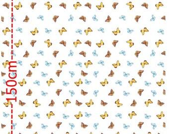 BaumwollJersey deer border on both sides by the metre fabric pattern 80 cm