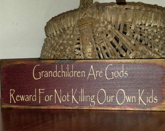 Grandchildren sign, grandchildren, sign, grandparents day, grandparents gift