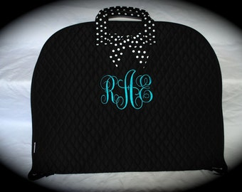 Monogrammed Belle Voir Brand Quilted Garment Bags - 3 Color Styles
