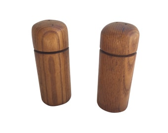 Mid-century Danish-style teak salt and pepper shaker set