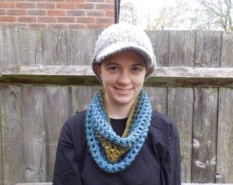 Neck Warmer - Green, Blue and Yellow