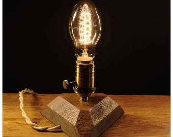 Retro Edison lamp with dimmer for smooth brightness control.Edison bulb,Industrial lamp,Edison wood lamp