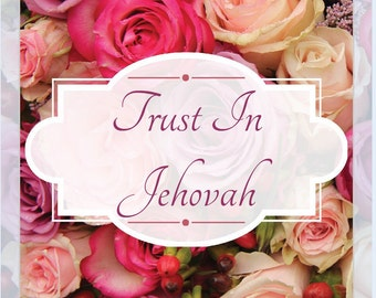 JW Trust In Jehovah glass refrigerator magnet