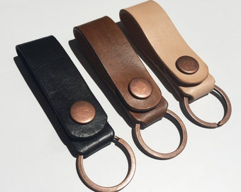 Leather Snap Belt Loop / Key Fob / Key Ring