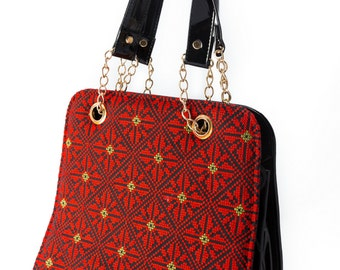 Ladies handbag with Palestinian Embroidery - New Pattern