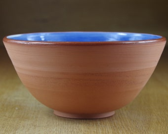 Handmade Ceramic Bowl, Blue Terracotta Bowl, Pottery Bowl, Handmade Bowl