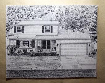 Custom Drawing of Home