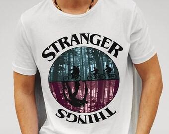 STRANGER THINGS Unique Design White T-Shirt Mens