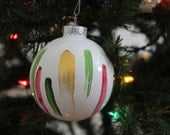 Christmas Colored Paint Stroke Ornament