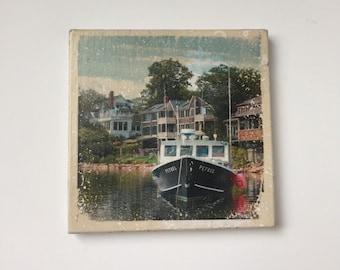 Perkin's Cove Photo Tile Coaster