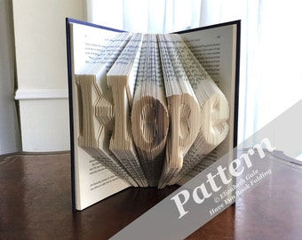 HOPE Book Folding Pattern -- 200 folds (400 numbered pages)