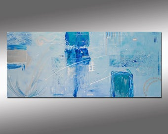 "SC-Art - abstract & modern / acrylic painting / 24""x55"""