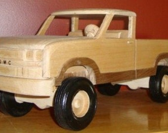 Wood Hand crafted 80's GMC 4 x 4 truck
