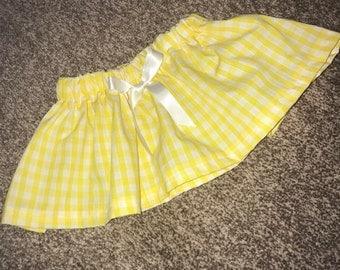 Gingham yellow skirt