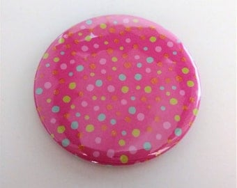 Pink Polka Dot Pocket Mirror