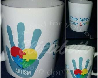 Autism Awareness Custom Mug on sale all of April!