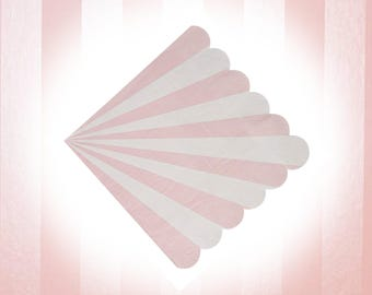 Pink Striped Napkins, 20/pack, Pink and Gold Party Napkin, Pink Baby Shower, Pink Baby Birthday, Circus Theme Party Decor, Bridal Shower