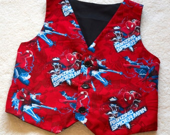 Men's Waistcoat made with Spiderman fabric