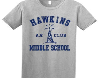 Stranger Things - Hawkins Middle School AV Club Adult T-Shirt