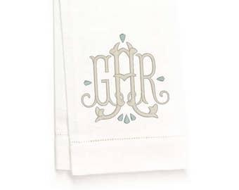 Fielding Hand Towel, White Linen