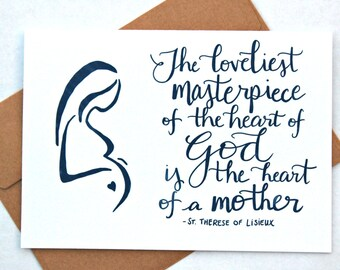 Mother's Day Card - Masterpiece - Catholic Greeting Card - 5x7